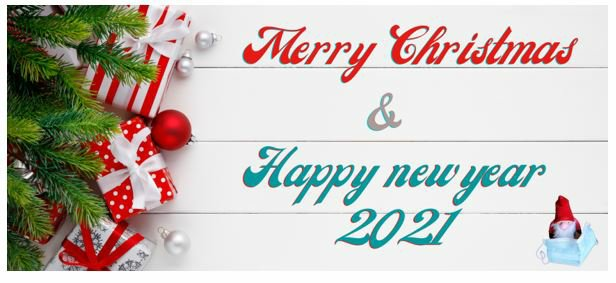 Image including text Happy New Year 2021