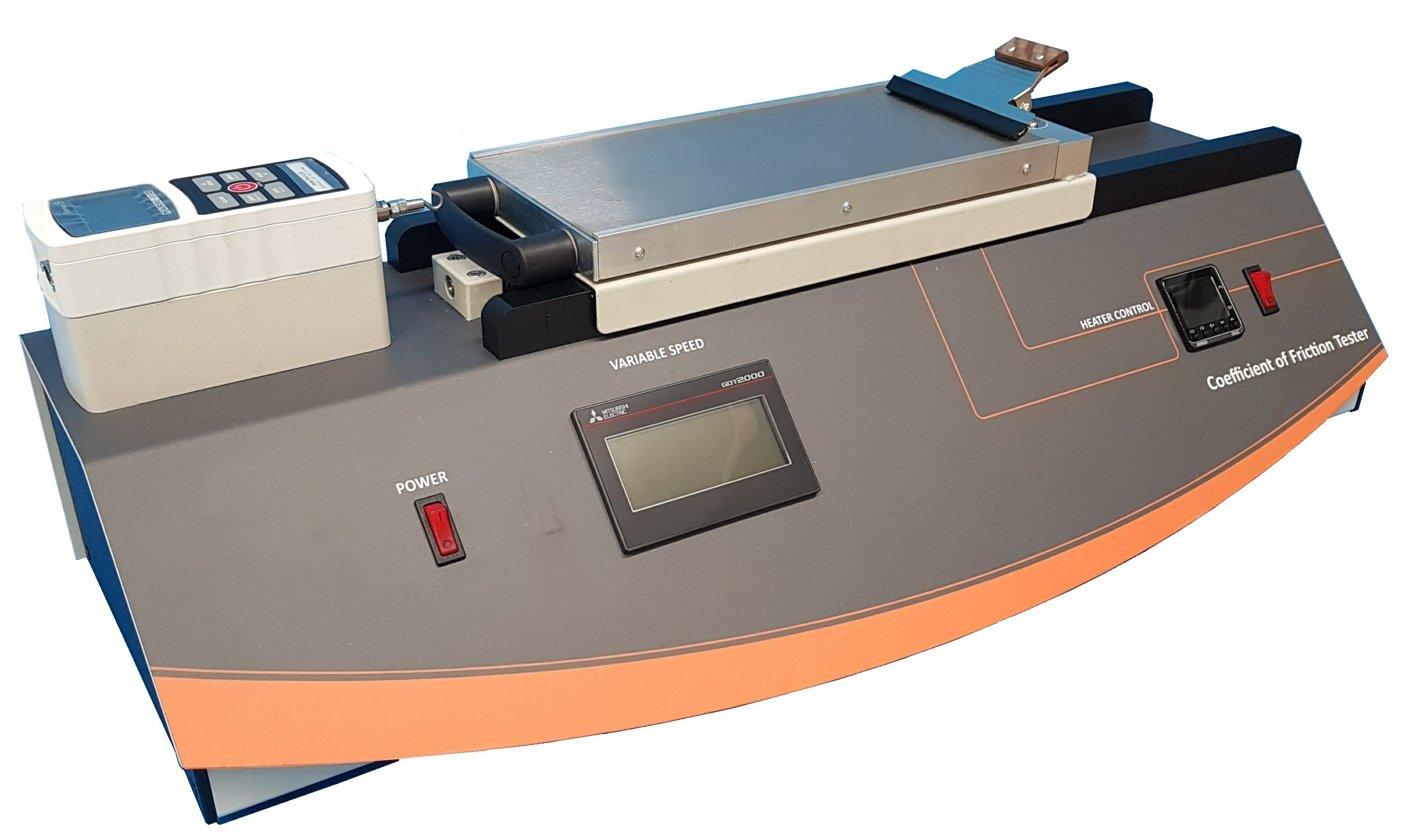 Coefficient of Friction Tester with Variable Speed & Heated Platen